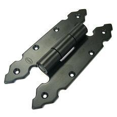 9100-200х90х4  Петля накладная черная  AMIG фигурная