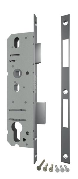 Корпус узкопрофильного замка с защелкой 4916-40/92 CP (хром) межосев. расст. 92 мм