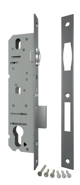 Корпус узкопрофильного замка с защелкой 4924-25/92 CP (хром) межосев. расст. 92 мм