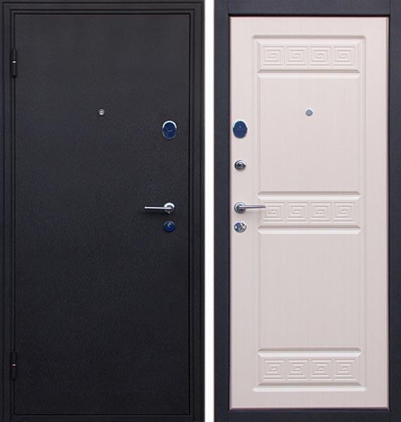 Входные двери Покров Афина черный шелк/беленый дуб, венге