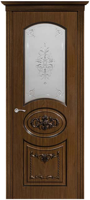 Межкомнатная дверь Тесоро стекло