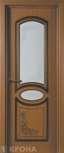 Межкомнатная дверь Муза (Азалия), стекло художественное