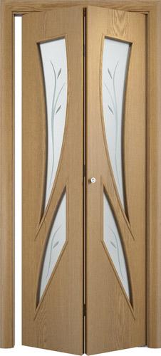 Складная межкомнатная дверь серии С-2(Ф)
