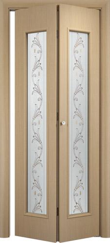 Складная межкомнатная дверь серии С-21 Вьюн