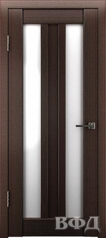 Межкомнатная дверь Line (Модель Л19), стекло лакобель белое