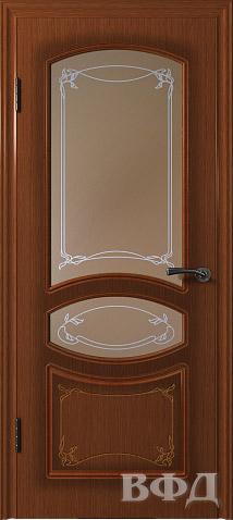 Межкомнатная дверь Версаль (Модель 13ДО), макоре, стекло