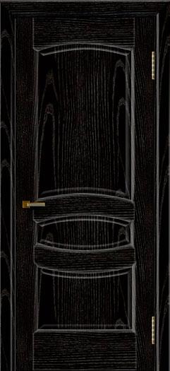Межкомнатная дверь Лайндор  Алина 2 глухая чёрная эмаль тон 26
