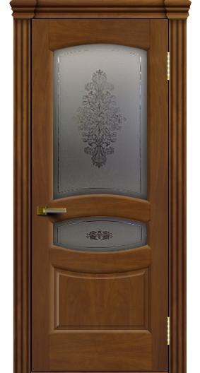 Межкомнатная дверь Лайндор  Алина 2 со стеклом Алина 2 американский орех тон 23