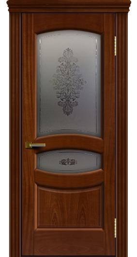 Межкомнатная дверь Лайндор  Алина 2 со стеклом Алина 2 красное дерево тон 10