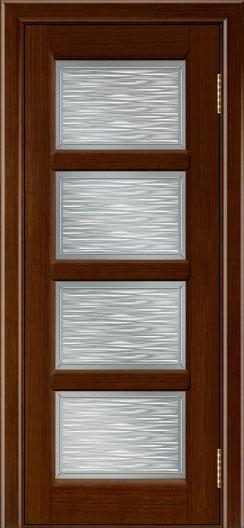 Межкомнатная дверь Лайндор  Классика 2 стекло Волна 4 орех тон 2