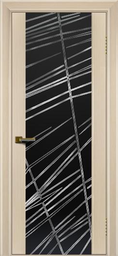 Межкомнатная дверь Лайндор  Камелия триплекс Графит белёный дуб тон 16