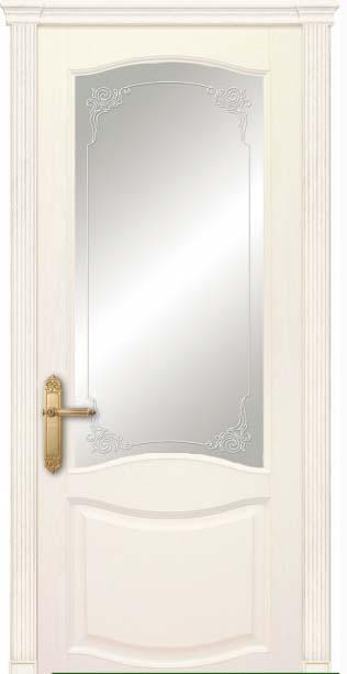 Межкомнатная дверь Дариано  Соренто контурный витраж Верди ясень карамель
