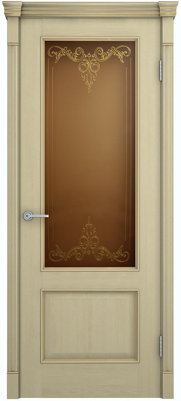 Межкомнатная дверь Шервуд Лондон остекленная
